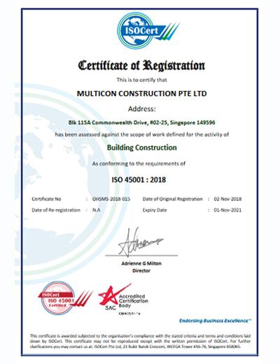 45001 - Certificate v1 multicon